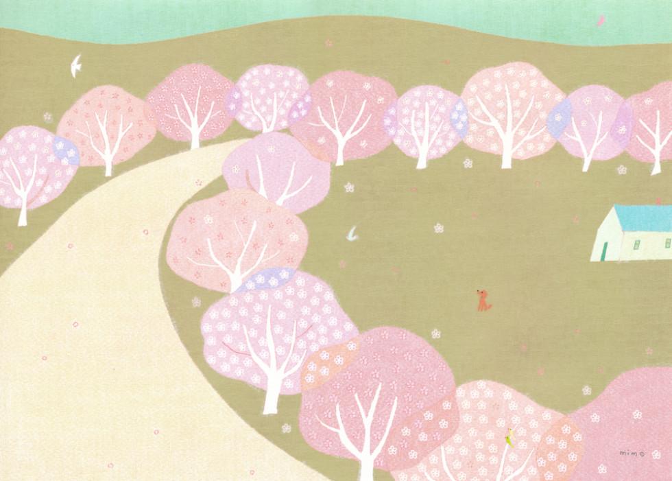ひらいみもillustration桜
