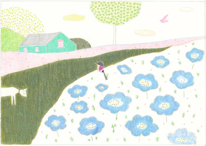 ひらいみも illustration 春のポストカード